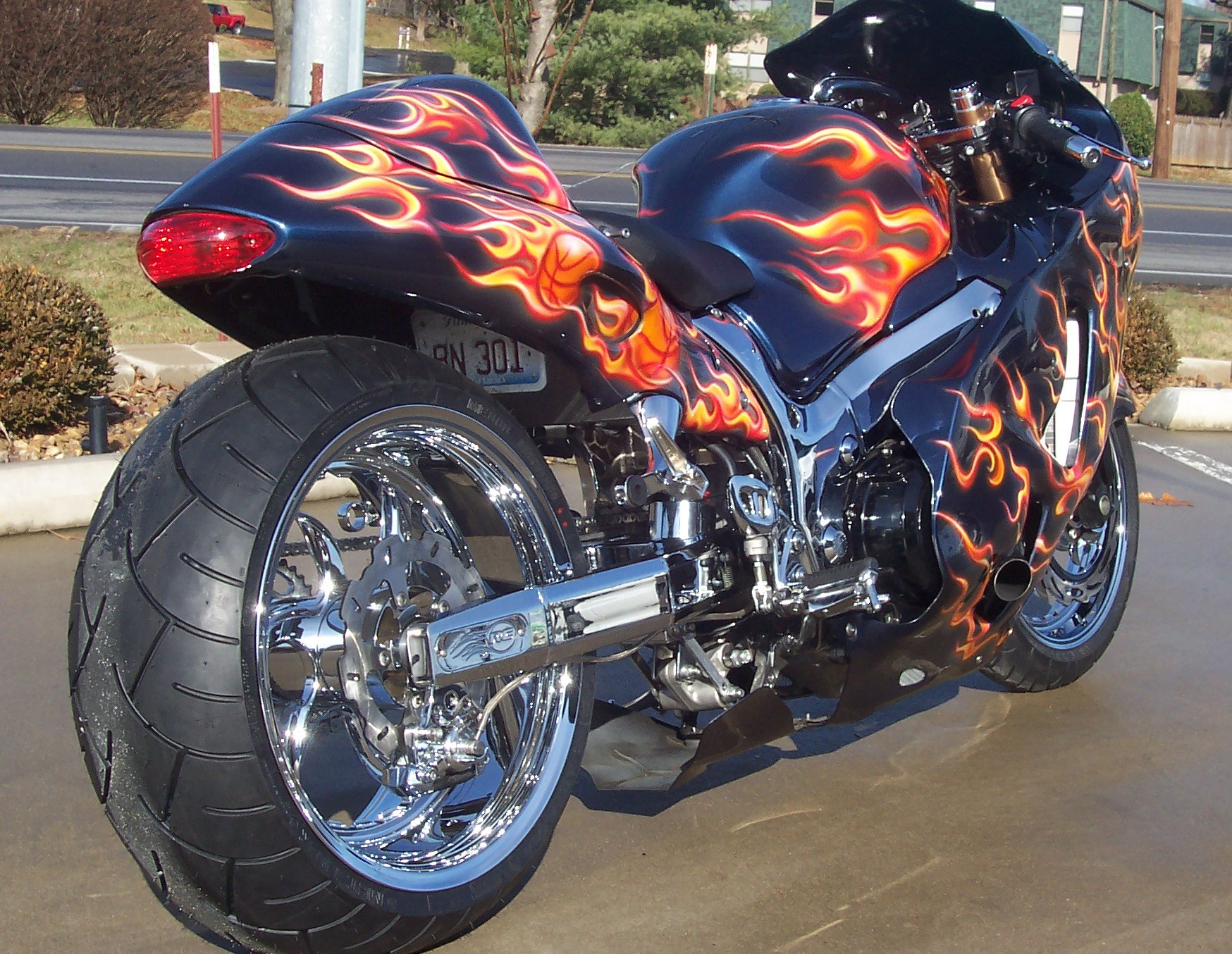 M/T Performance built 2007 Hayabusa  240 Wide Tire Kit - Velocity Turbo System.